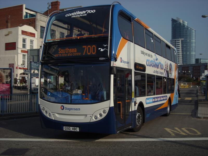 The 700 Coastliner Service Between Brighton And Southsea Has Been Revamped With Dennis Enviro400s